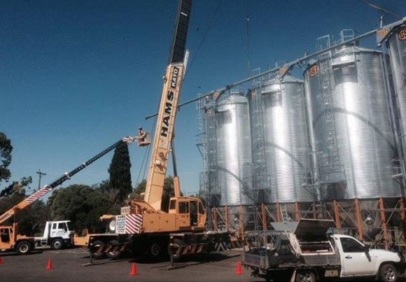 Kingaroy-Qld Grain Handling and Storage Installation